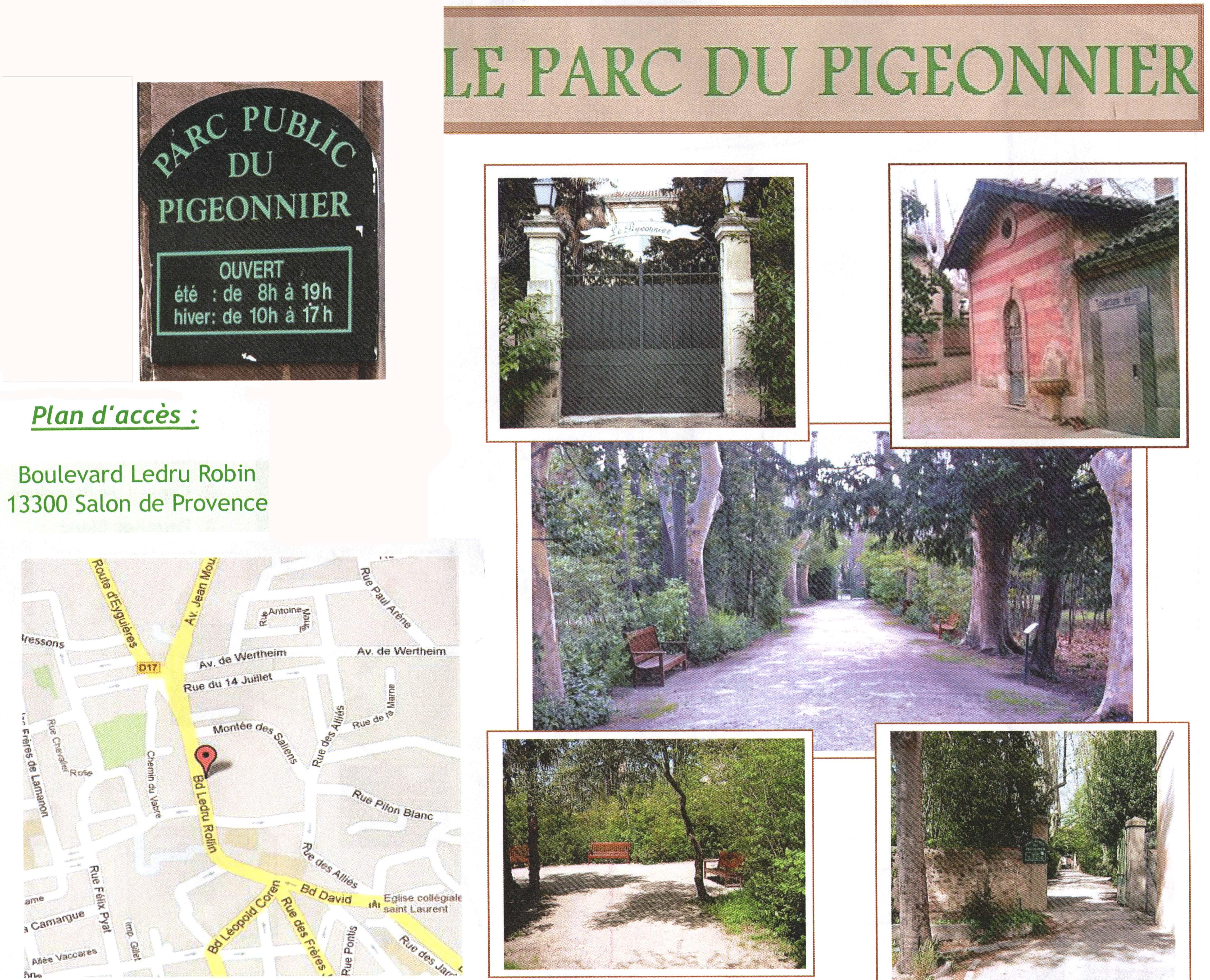 Foyer Gaubert Salon De Provence : Sauvons le parc public du pigeonnier pays salonais